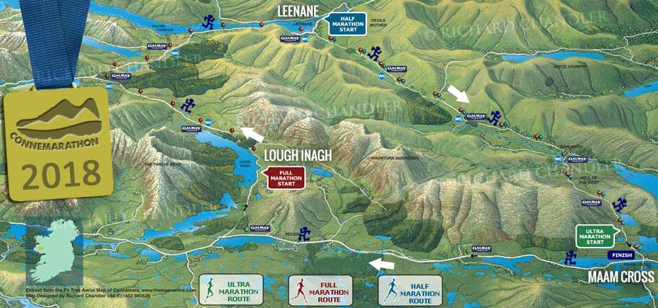Connemarathon Route Maps